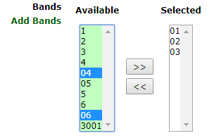 available-bands